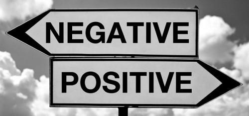негатив и позитив