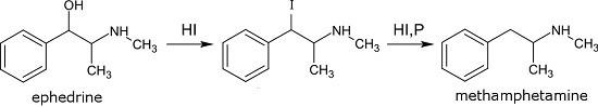 синдез амфетамина из эфедрина